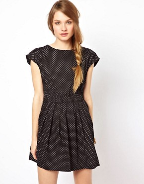 Image 1 ofSugarhill Boutique Polka Open Back Dress