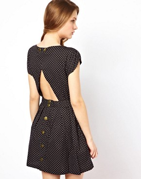 Image 2 ofSugarhill Boutique Polka Open Back Dress