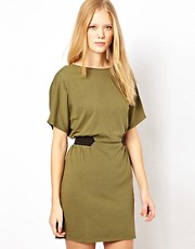 Selected Sonia Jersey Dress with Elastic Belt Detail