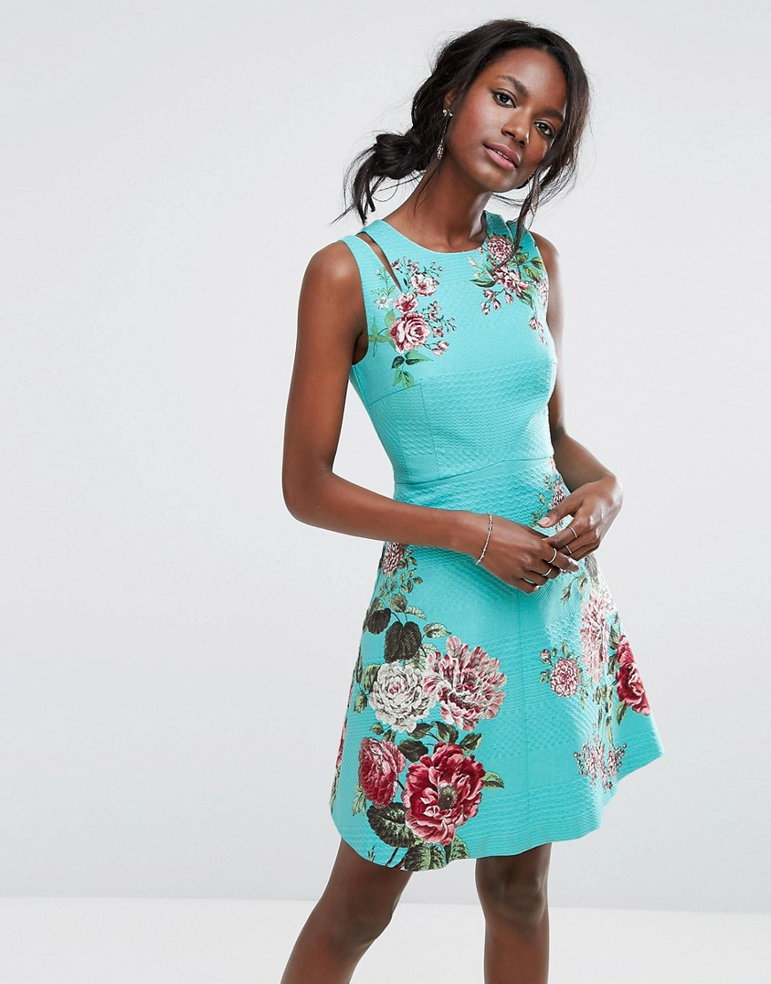 Oasis Royal Worcester Floral Print Skater Dress