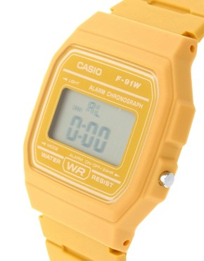 Image 3 ofCasio F-91WC-9AEF Digital Yellow Watch