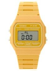 Casio  F-91WC-9AEF  Digitale Armbanduhr in Gelb