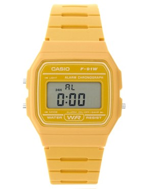 Image 1 ofCasio F-91WC-9AEF Digital Yellow Watch