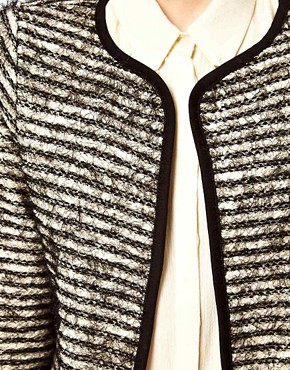 Image 3 of ASOS Blazer In Stripe Boucle