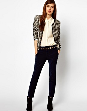Image 4 of ASOS Blazer In Stripe Boucle