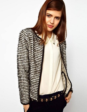 Image 1 ofASOS Blazer In Stripe Boucle