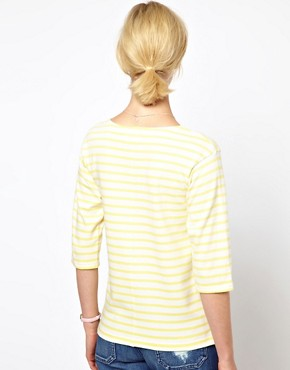 Image 2 ofMih Striped Boat Neck T-Shirt