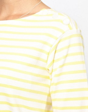 Image 3 ofMih Striped Boat Neck T-Shirt