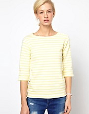 Mih Striped Boat Neck T-Shirt