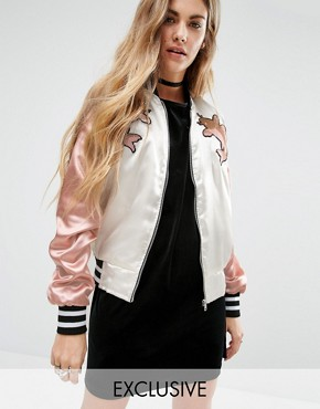 Reclaimed Vintage Luxury Trophy Bomber Jacket With Embroidered Patches