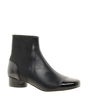 Image 1 ofASOS ADORED Leather Chelsea Ankle Boots