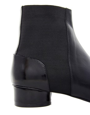 Image 2 ofASOS ADORED Leather Chelsea Ankle Boots