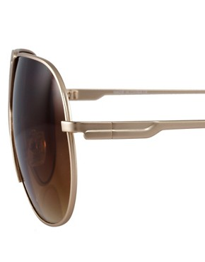 Image 4 ofASOS Premium Mixed Metal Aviator Sunglasses