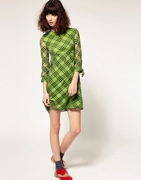 Image 4 ofPeter Jensen Tie Cuff Dress in Silk Devore