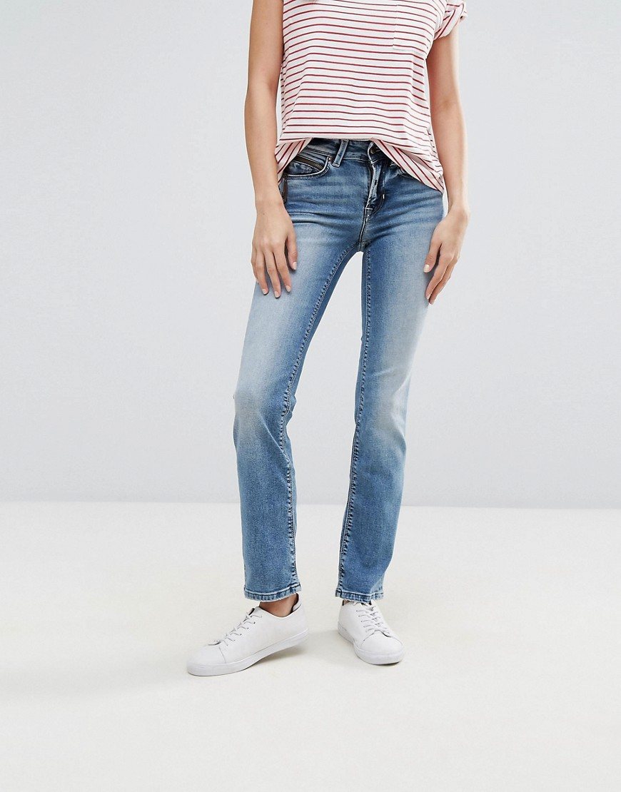 Only Ella Straightcut Jeans - Medium blue denim