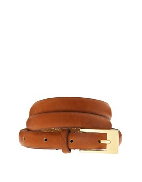 Image 1 ofOasis Skinny Leather Belt