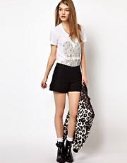 Markus Lupfer French Lace Shorts