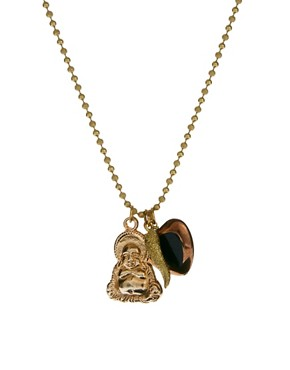 Image 1 ofSam Ubhi Gold Buddha Charm Necklace