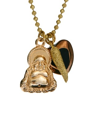 Image 4 ofSam Ubhi Gold Buddha Charm Necklace
