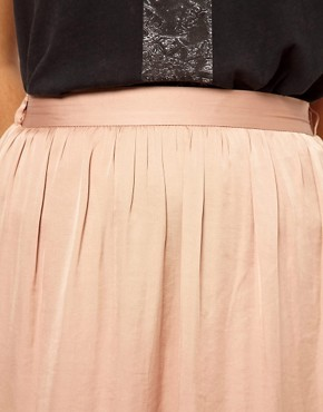 Image 3 ofRiver Island Washed Satin Maxi Skirt