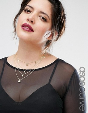 ASOS CURVE Mini Shape Multirow Choker Necklace