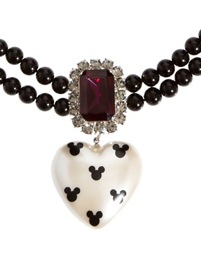 Image 4 ofMinnie Mawi By Disney Couture Heart Beaded Collar