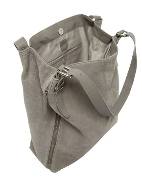 Image 2 ofASOS Leather Tote Bag With Bar Detail