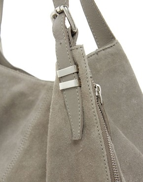 Image 4 ofASOS Leather Tote Bag With Bar Detail