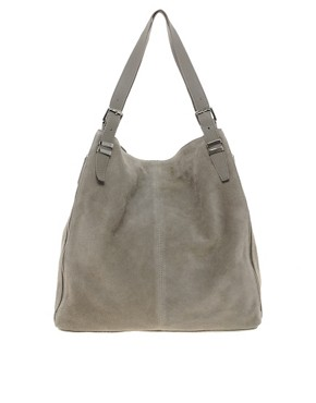 Image 1 ofASOS Leather Tote Bag With Bar Detail