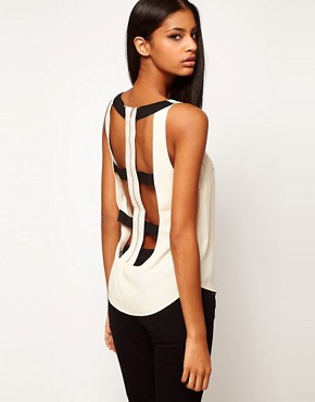Image 1 ofASOS Vest With Contrast Harness Back