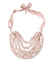 Adele Marie Multi Row Pearl Necklace