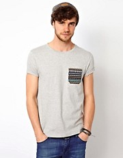 ASOS T-Shirt With Contrast Printed Pocket