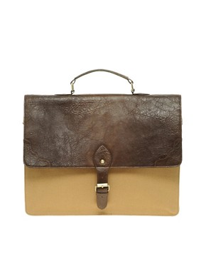 Image 1 ofASOS Smart Retro Contrast Satchel