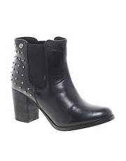 Blink Leather cuban Heel Chelsea with Stud Heel