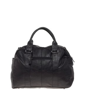 Image 1 ofASOS Leather Look Holdall