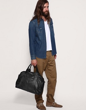 Image 3 ofASOS Leather Look Holdall