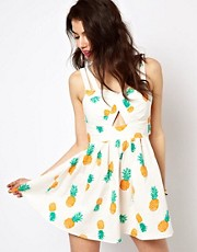 Reverse Sun Dress In Pineapple Print