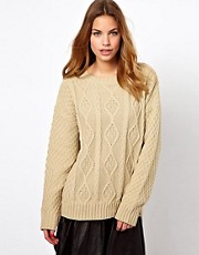 Suter estilo boyfriend de punto de aran de Glamorous