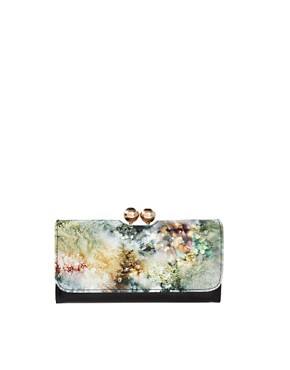 Image 1 ofTed Baker Almira Sequin Crystal Leather Matinee Purse