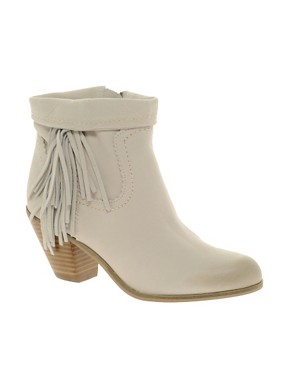 Image 1 ofSam Edelman Louie Fringed Ankle Boots