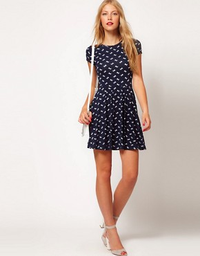 Image 4 ofASOS Skater Dress In Horse Print