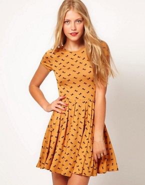 Image 1 ofASOS Skater Dress In Horse Print