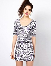 Bambam Bodycon Dress in Circus Print