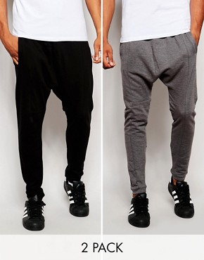 ASOS 2 Pack Drop Crotch Jogger SAVE 22%