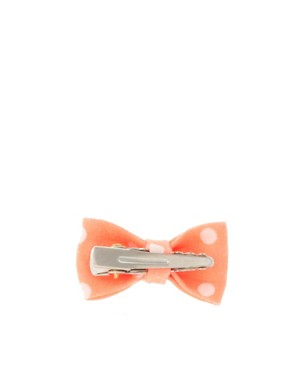 Image 2 ofLimited Edition Spot &amp; Stripe Neon Bow Clip