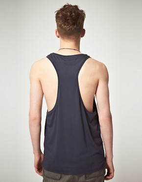 Image 2 of ASOS BLACK Vest with Contrast Panel