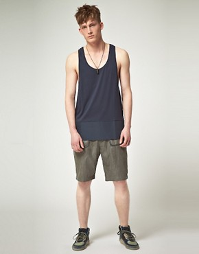 Image 4 of ASOS BLACK Vest with Contrast Panel