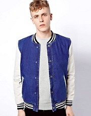 ASOS Denim Bomber Jacket