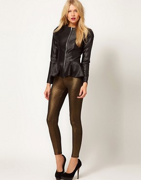 Image 1 ofOasis Foil Print Legging