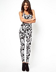 ASOS Unitard In Mono Print